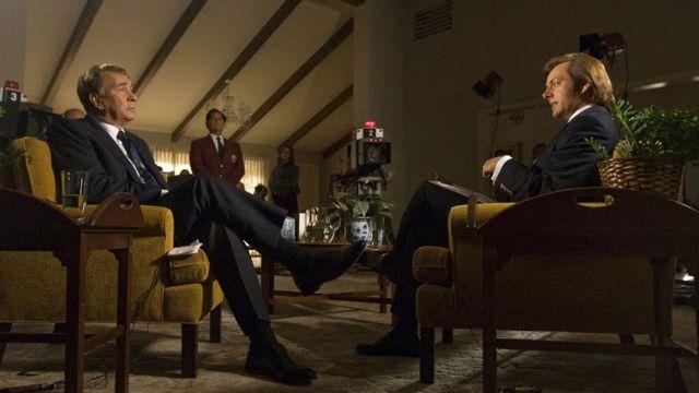 تحولت سلسلة مقابلات نيكسون وفروست إلى فيلم في عام 2008 بطولة فرانك لانغيلا ومايكل شين
