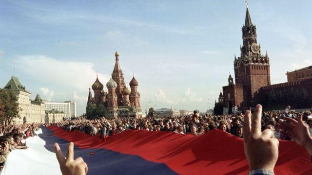 Митинг на Красной площади 22 августа 1991 года