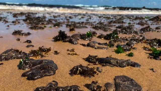 Petróleo en playas de Brasil