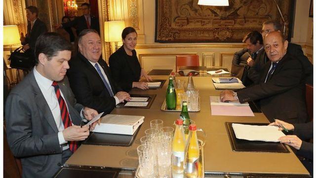 Pompeo ve Fransa Dışişleri Bakanı Jean-Yves Le Drian