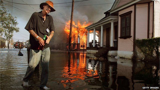 New Orleans resident in the floods