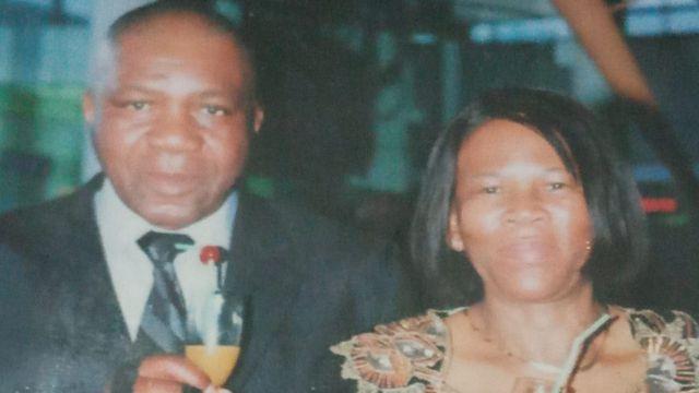 Agnes e seu marido, Gideon Sithole