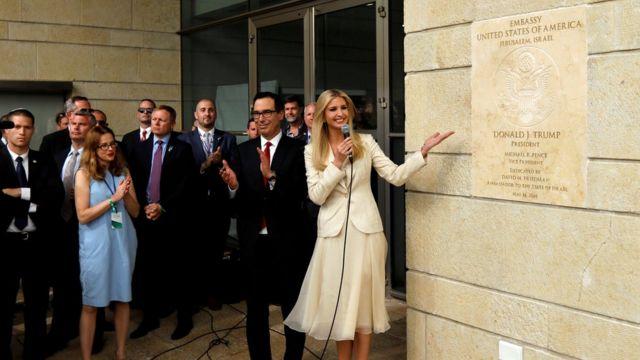 Filha de Trump, Ivanka apresenta cerimônia de inaguração da embaixada americana em Jerusalém
