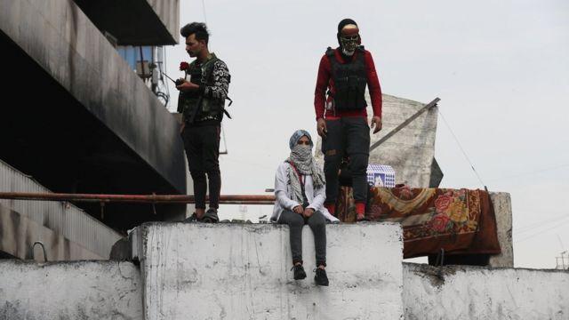 محتجون في العراق