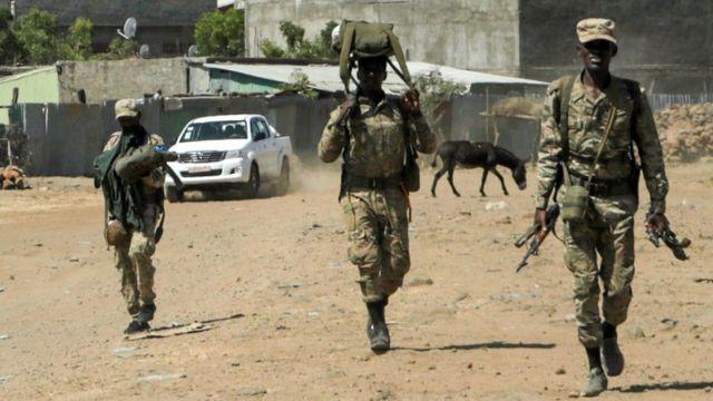 أفراد القوات الموالية للحكومة.