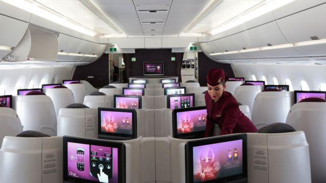 Cabina de Qatar Airways