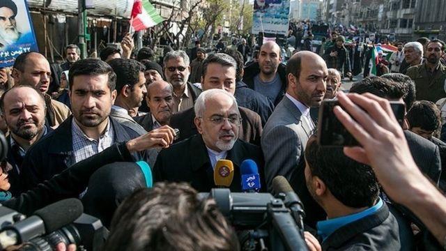 محمدجواد ظریف، وزیر خارجه ایران در تهران