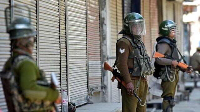 کشمیر میں بھارتی سکیورٹی فورسز