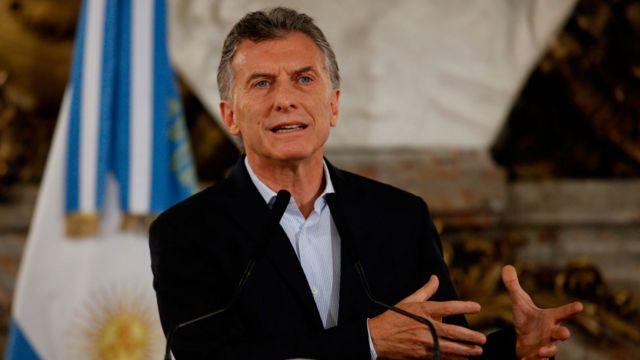 Mauricio Macri durante la conferencia de prensa este martes.
