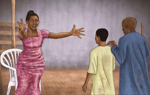 Une illustration de Firdausi Okezie reconnaissant son frère.