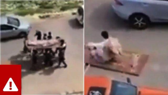 Um vídeo viral de 'brincadeira' da Jordânia está sendo compartilhado como se fosse um 'funeral falso' em Gaza
