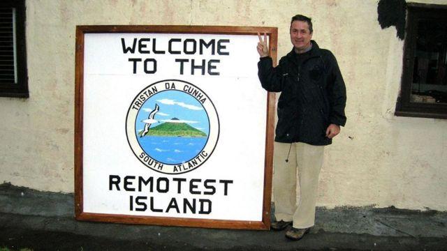 偏远的特里斯坦达库尼亚岛