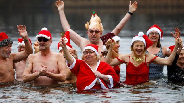 рождественский заплыв, озеро оранке в берлине