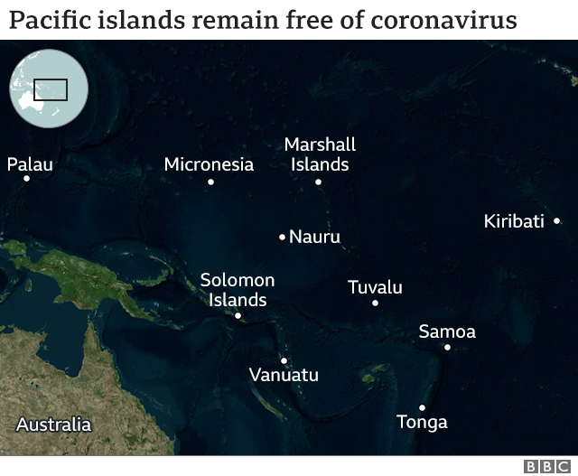 Map of Pacific Island nations