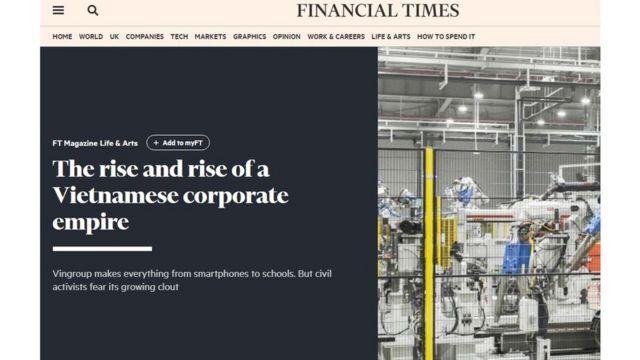 Bài đăng trên Financial Times
