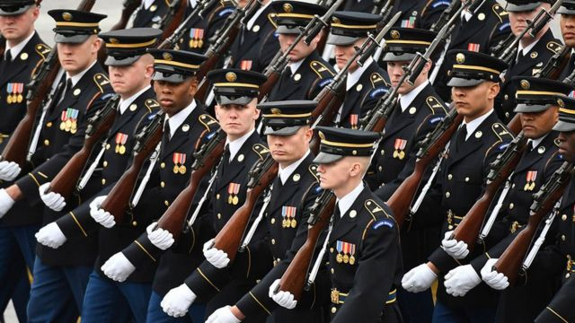美國陸軍在總統就職日的遊行