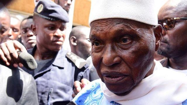 Abdoulaye Wade lors des élections législatives sénégalaises de juillet 2017, à Dakar