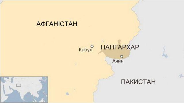 Мапа удару МОАВ