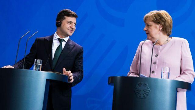 Зеленський та Меркель