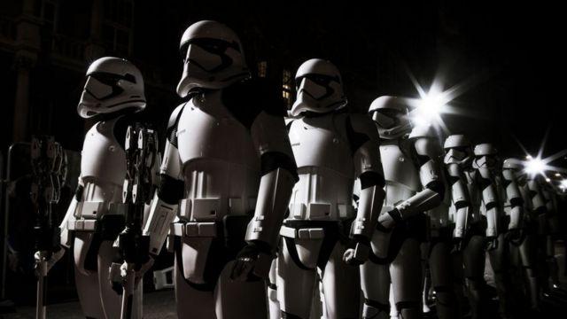 Stormtroopers en Londres en 2017.