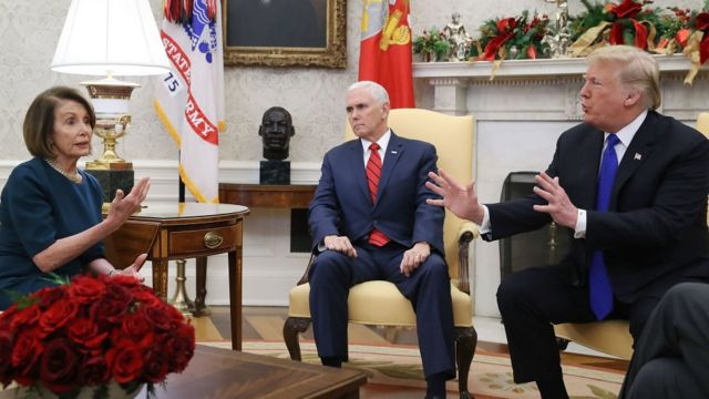 Nancy Pelosi and trump and pence