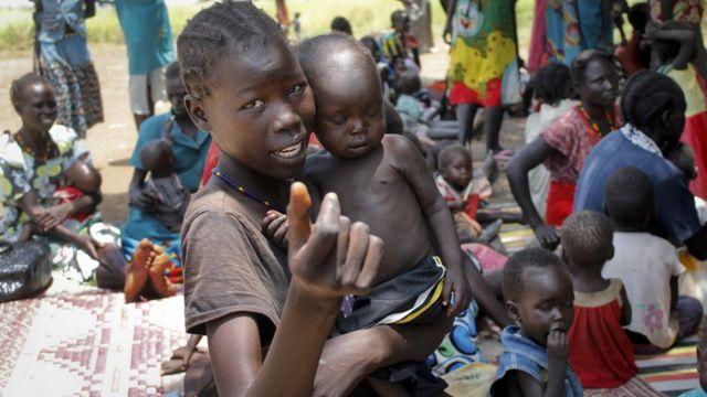 نازحون بسبب الحرب في حنوب السودان