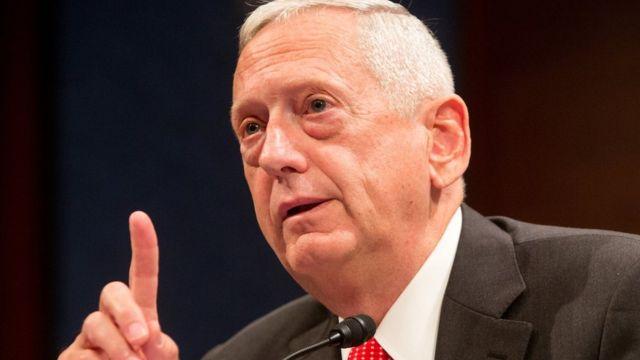 Gen James Mattis yarisiguye imbere y'akanama ka senat i Washington DC itariki 18 z'ukwezi kw'icenda mu 2014