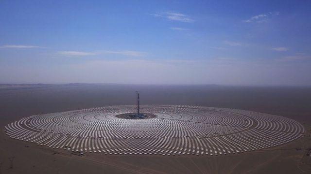 Una planta solar en Gansu