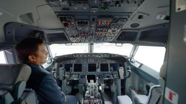 Cabina de un avión de Batik Air, subsidiaria de Lion Air