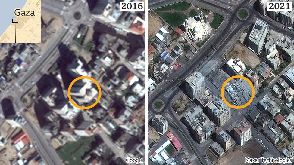 Israel-Gaza: Why is the region blurry on Google Maps? - BBC News