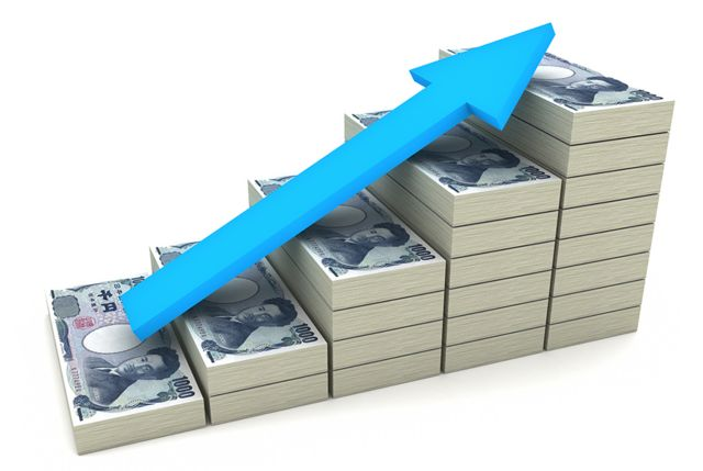 Rising yen stacks
