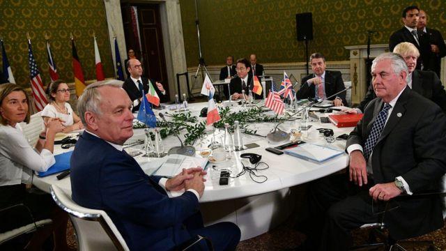 На встрече министров иностранных дел стран G7