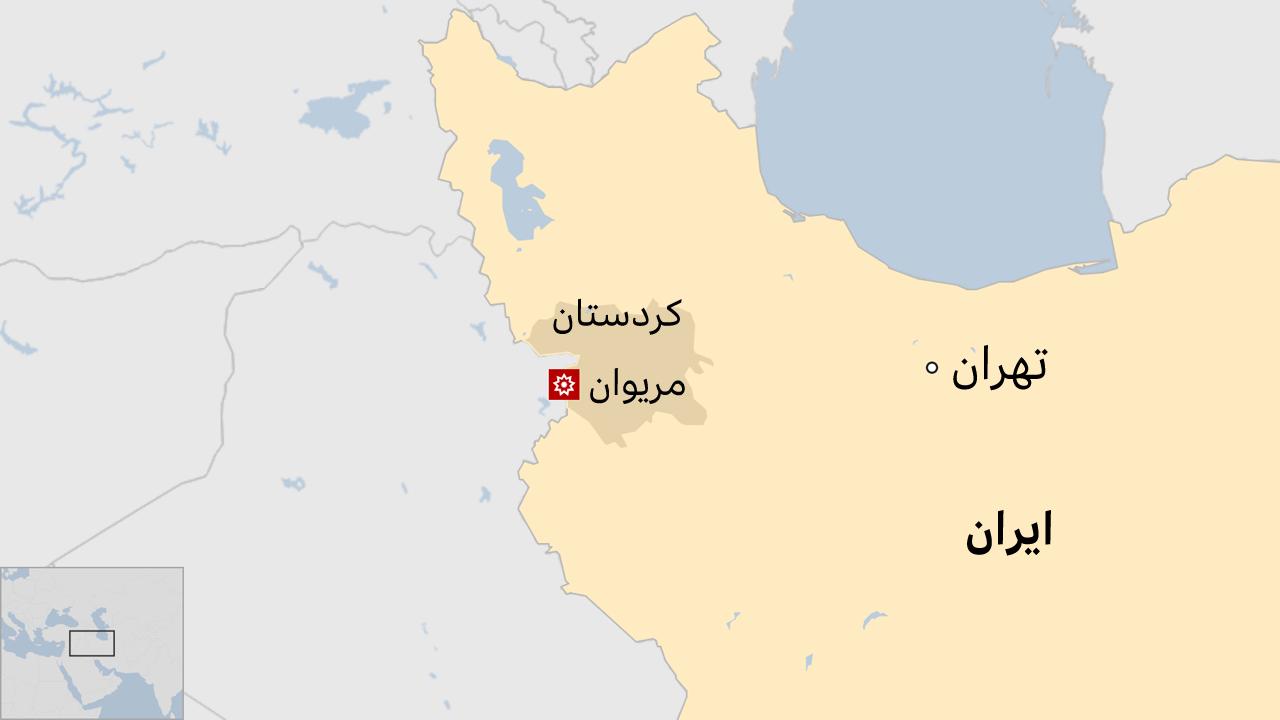 نقشه ایران و مریوان