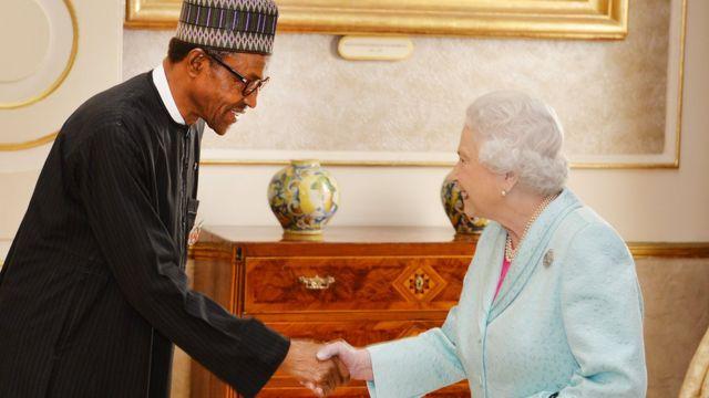 aarẹ̀ Buhari ati ọbabinrin ilẹ Gẹẹsi