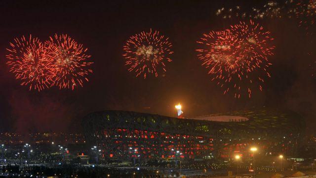 Ceremonia de apertura de los Juegos Olímpicos de Pekín en 2008