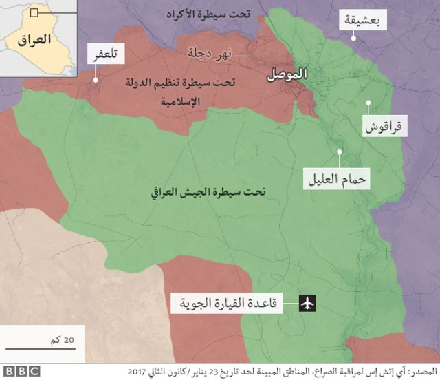 السيطرة في الموصل