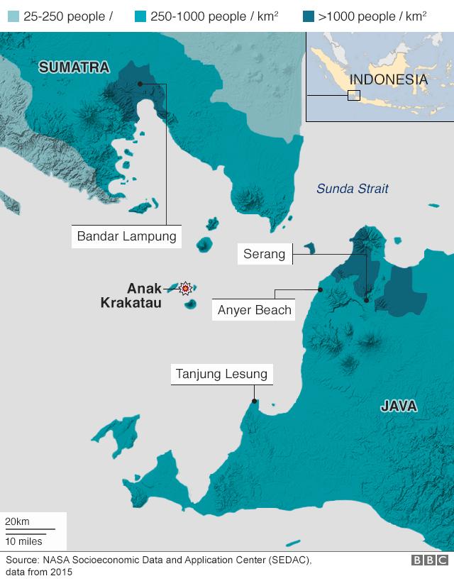 Population density in tsunami area
