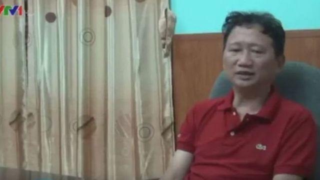 """Ông Trịnh Xuân Thanh """"xin lỗi"""" trong đoạn phim chiếu trong chương trình thời sự của VTV tối 3/8"""