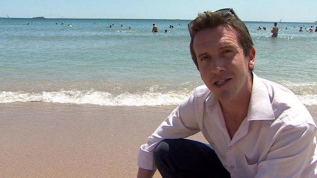 The BBC's Mark Lowen on a beach in Athens as he explains the implications of 'Yes' and 'No' votes in the Greek referendum