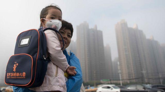 آلودگی هوا در شهر هاربین چین