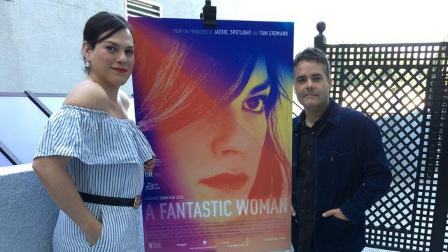 Daniela Vega y Sebastián Lelio en Los Ángeles (Foto: Beatriz Díez)