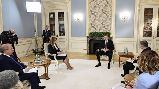 Ilham Əliyev və jurnalistlər, 23 dekabr, 2019-cu il
