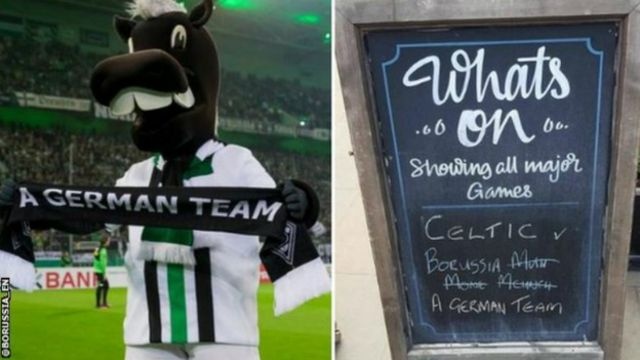 Borussia Monchengladbach fans made light of being called 'a German team'