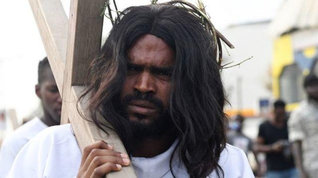Man carry cross