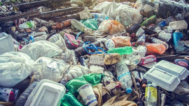 Contaminación por plástico.