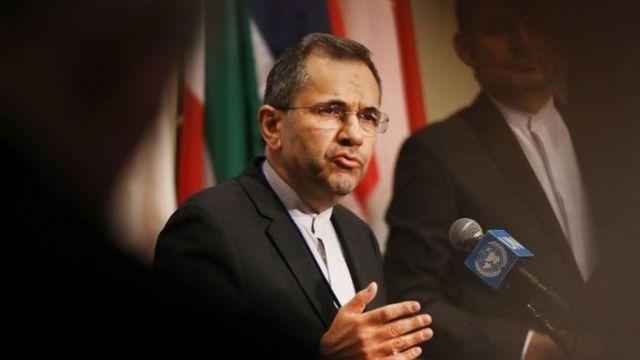 نماینده ایران در سازمان ملل گفته تا لغو تحریم های آمریکا، امکان مذاکره دو کشور منتفی است