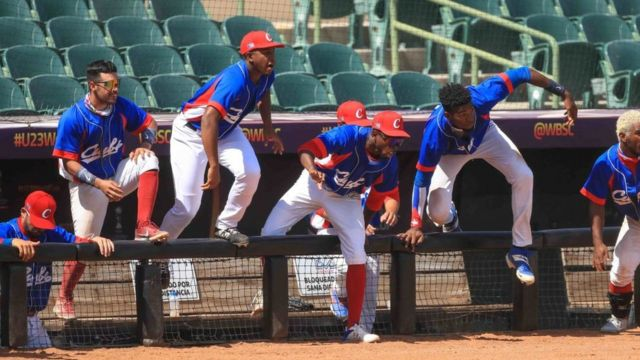 Cuban players at the Under 23 Baseball World Cup in Mexico.