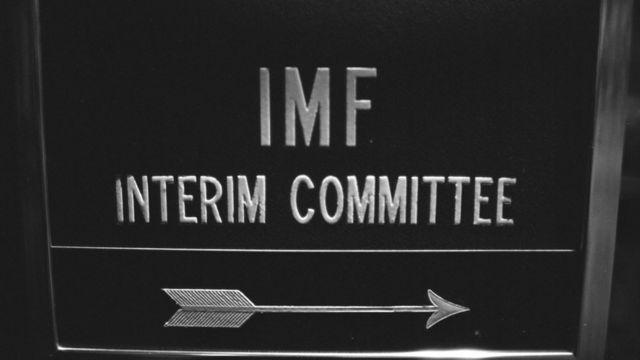 Placa sinaliza reunião do comitê interino do FMI em 1974