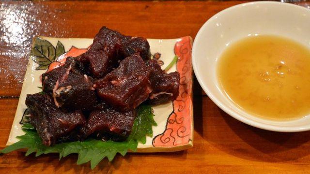 Carne de ballena en Japón