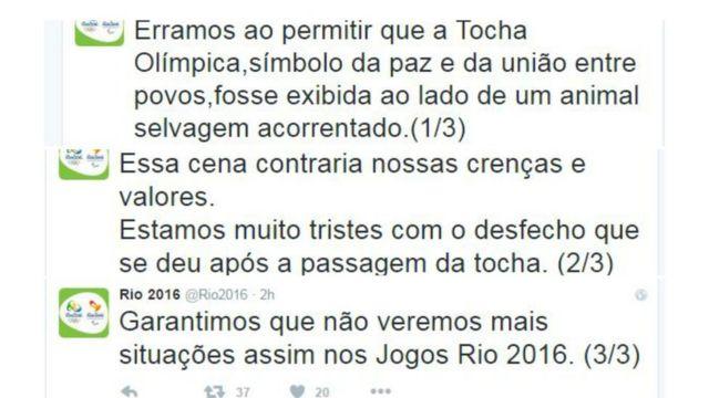 Tuítes do Comitê Rio-2016